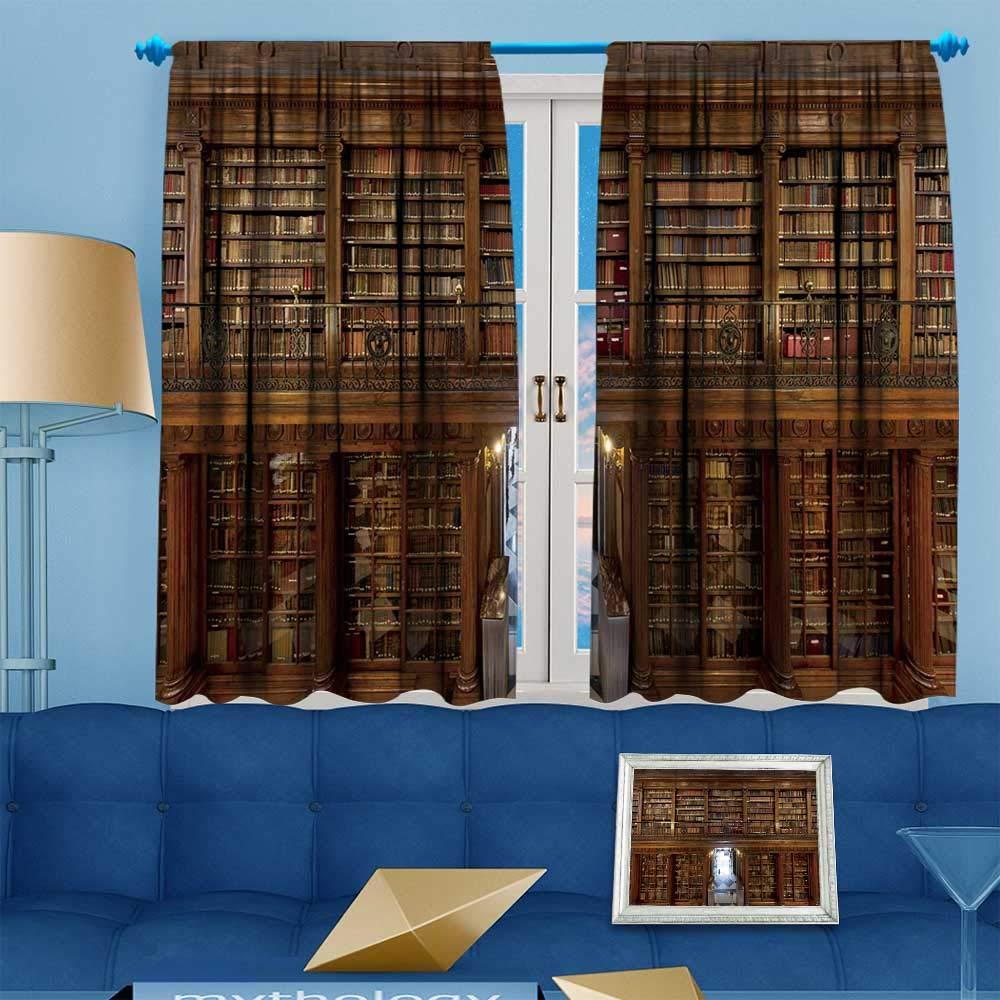 Amazon.com: PRUNUS Blackout Curtain Wonderful Library of Old ...