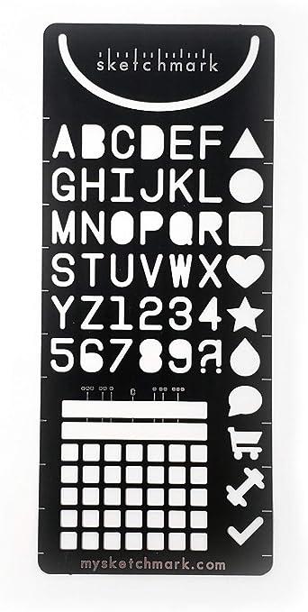 GEN I Aluminum and Designing Sketchmark: The Bookmark Stencil for Bullet journals Sketching