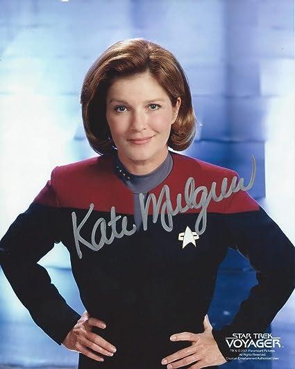 AUTOGRAPHED PRINT KATE MULGREW KATHRYN JANEWAY STAR TREK VOYAGER SIGNED