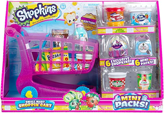 Shopkins Small Mart Shopping Cart, Pink