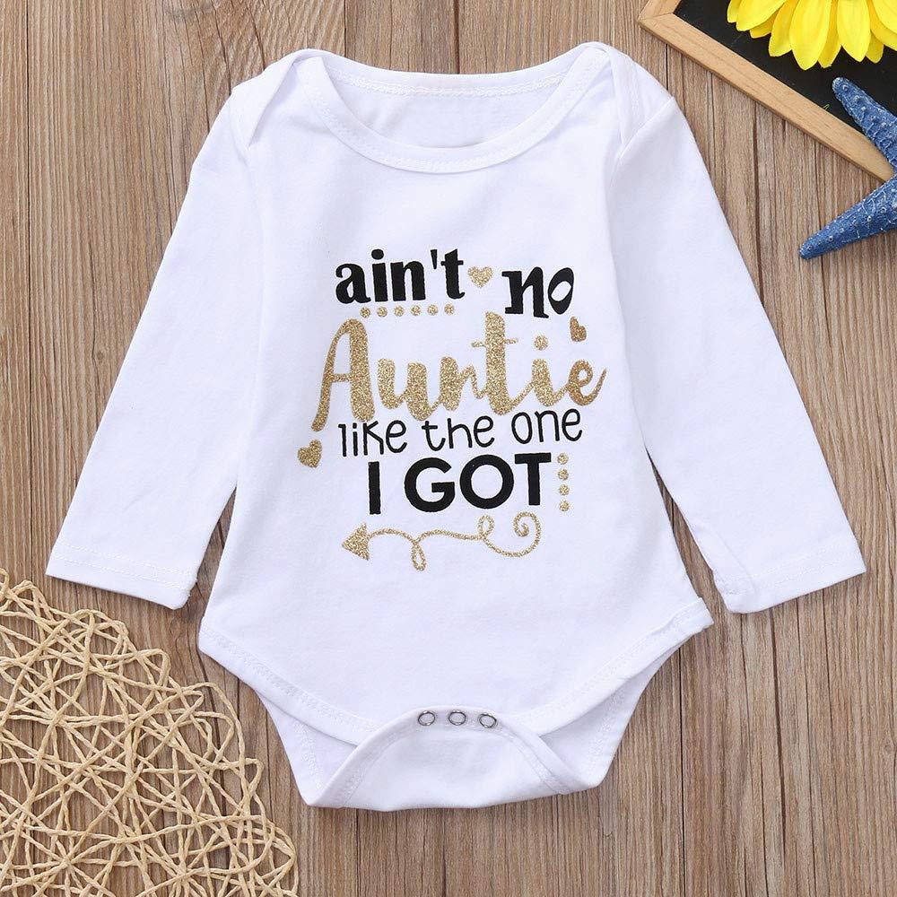 4c21fda8ec49b Amazon.com: Keliay Infant Baby Girls Boys Long Sleeve Letter Print ...