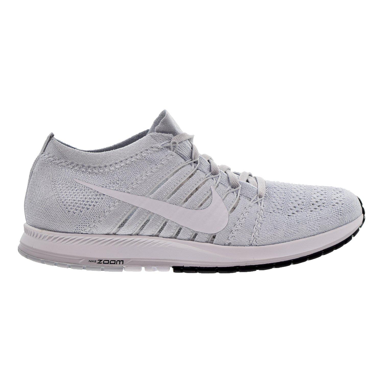 NIKE Unisex Flyknit Racer Running Shoe B072117JBJ 12 D(M) US|Pure Platinum/White-black