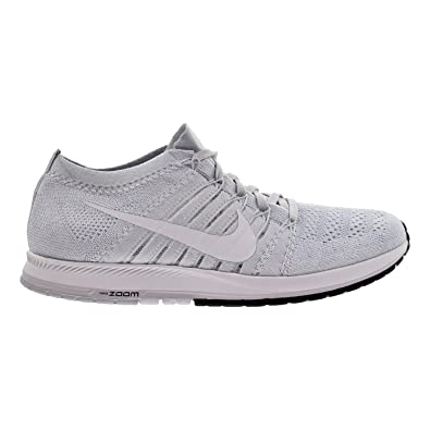 Nike Herren Flyknit Streifen Pure Platinum Laufschuhe 835994 002