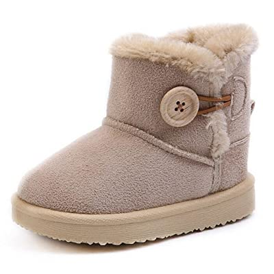 Bumud Toddler Boy Girl Shoes Winter Kids Cotton Warm Snow Boots