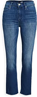 product image for MOTHER Women's The Mid Rise Dazzler Crop Fray Jeans