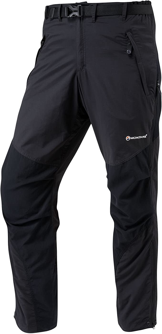 Montane Mens Terra Activity Black All Season Regular Leg Tracksuit Bottoms Pants