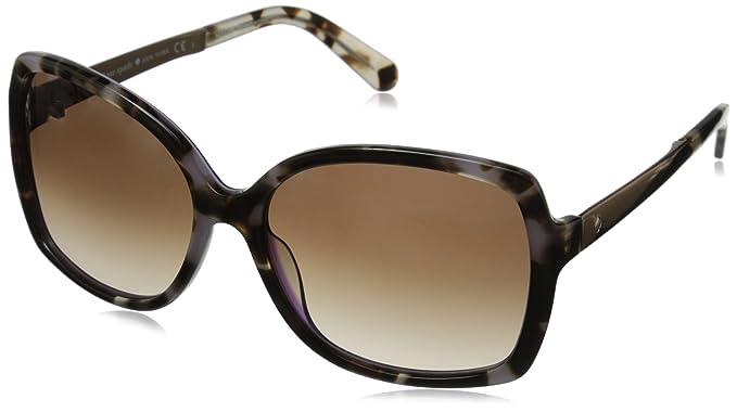 2f26653dd4 Amazon.com  Kate Spade Women s Darilynn Rectangular Sunglasses BLUE PTT BK  28 mm  Clothing