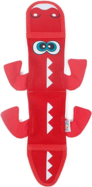 Outward Hound Fire Biterz Durable Real Fire Hose Material Dog Toy with Squeakers
