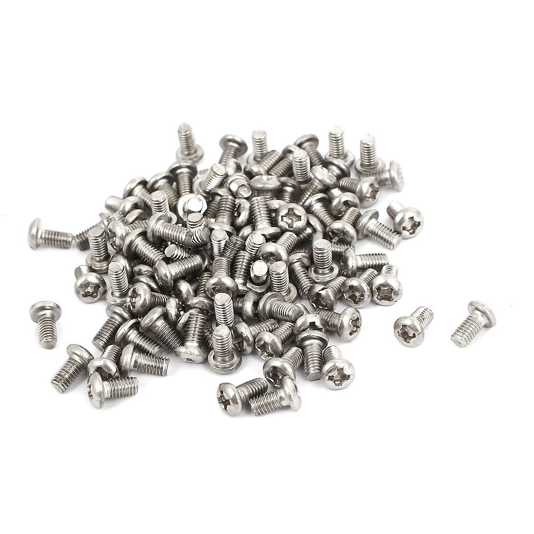 M 3 x 5 mm cabeza redonda acero inoxidable Phillips tornillos 100 piezas Sourcingmap a15121600ux0532