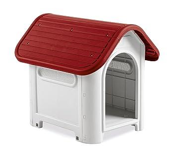 4566 Caseta en forma de casa para perro PROLABZOO con toma de aire 59.2x66x63 cm - Rojo: Amazon.es: Productos para mascotas