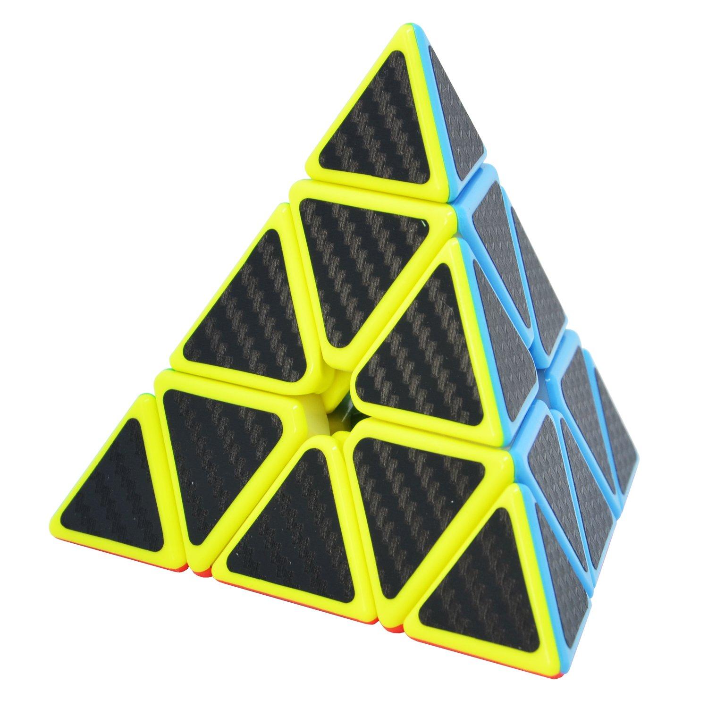 TOYESS Speed Cube Megaminx Dodecaedro 3x3x3 Cubo Magico Fibra di Carbonio Sticker Giocattolo Regalo per i Bambini e Adulto