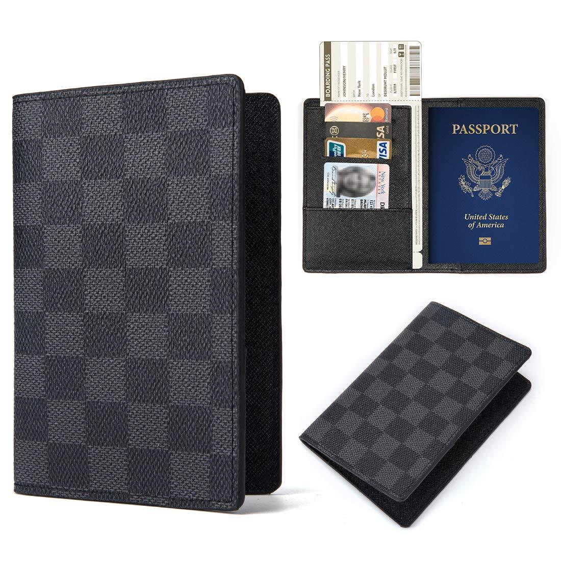 Multi-purpose Blocking Travel Passport Wallet Holder Cover Case Leather RFID Travel Organizer Card Holder Passport Flower