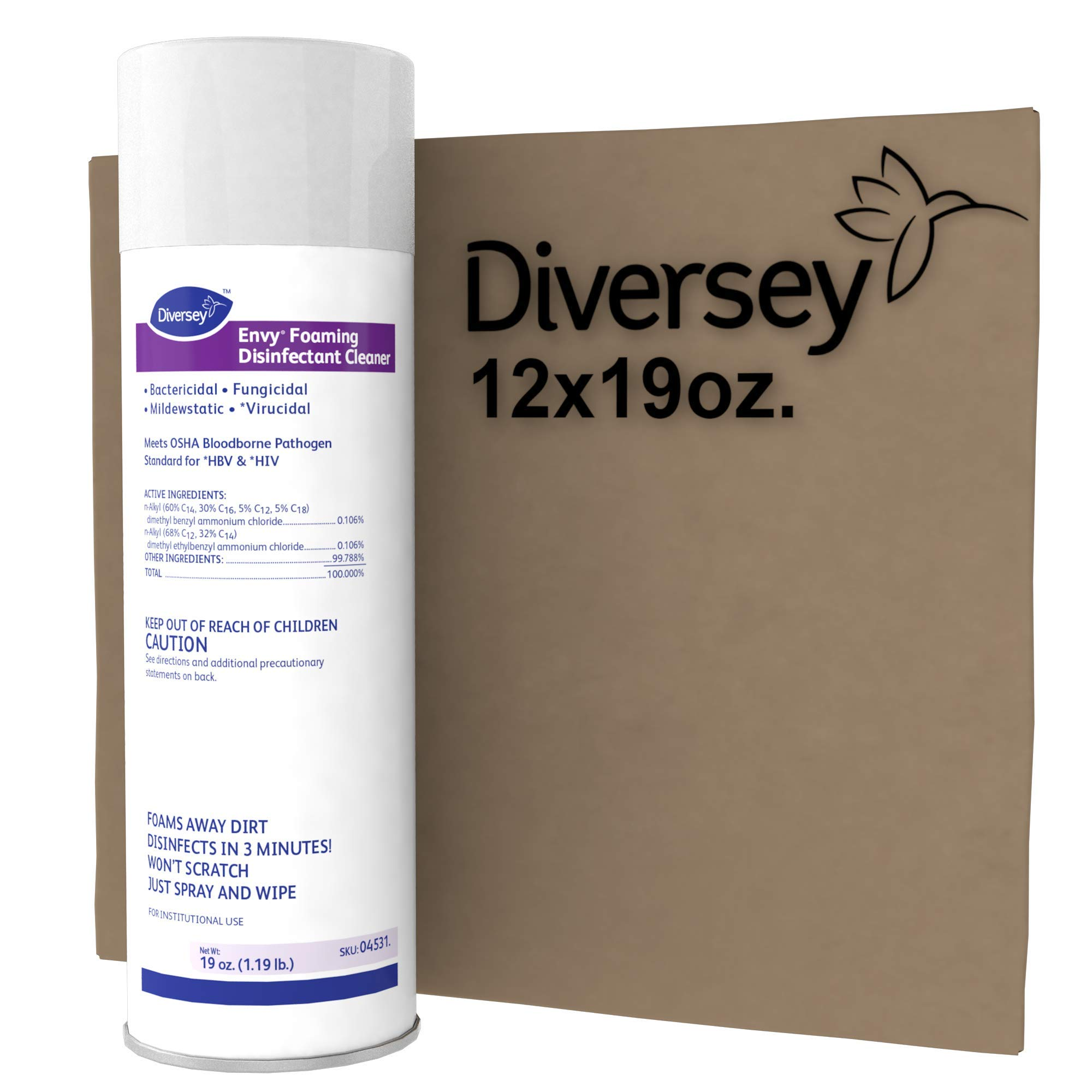 Diversey Envy 04531 Foaming Disinfectant Cleaner, 12 x 19 oz./539 g Aerosol by Diversey (Image #4)