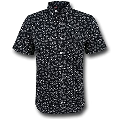 Iron Man Floral Print Men's Button Down Shirt- 2XLarge at Amazon ...
