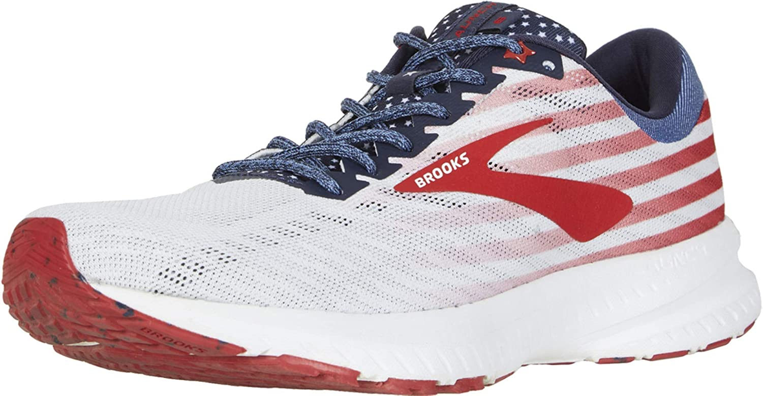 Brooks Launch 6 White/Blue/Red 12.5: Shoes