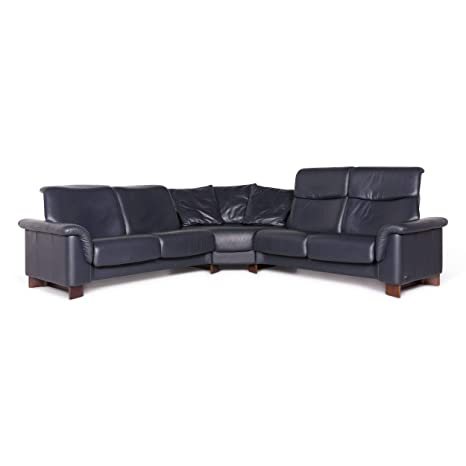 Stressless Designer Leather Corner Sofa Blue Sofa Couch ...