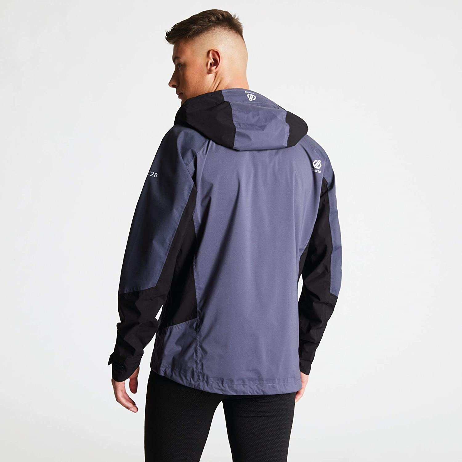 Hombre Dare 2b Aline Lightweight Water Repellent and Breathable Hooded Shell Chaqueta