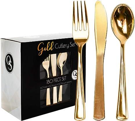 Partybesteck Porcelain Rosé-Gold 18 Stk Einwegbesteck Tischdeko Besteck