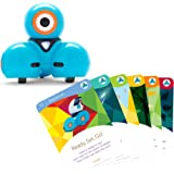 Wonder Workshop Dash Robot with Dash Challenge Cards Bundle - STEAM Learning Toys for Girls and Boys Ages 6+
