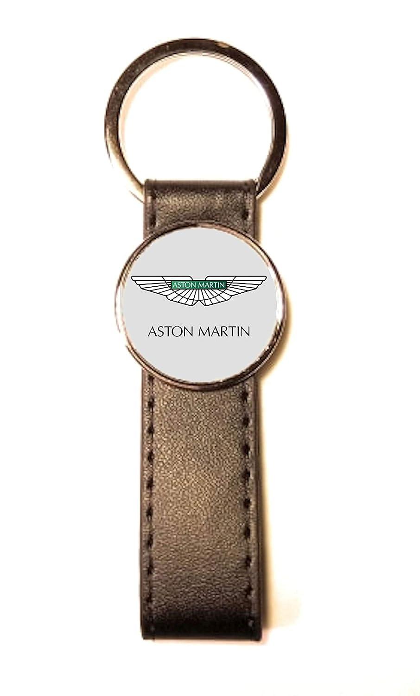 Llavero de Acero y Piel sintética Classic Circle Aston ...