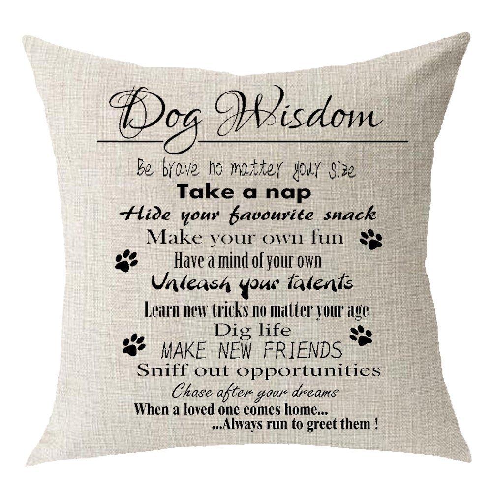3 FELENIW COMIN18JU032848 Animal Pet dog French Bulldog Throw Pillow Cover Cushion Case Cotton Linen Material Decorative 18  Square