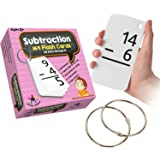 Star Education Subtraction Flash Cards, 0-12 (All Facts, 169 Cards) With 2 Rings
