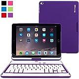 iPad Air 2 Keyboard, Snugg [Purple] Wireless Bluetooth Keyboard Case Cover [Lifetime Guarantee] 360° degree Rotatable Keyboard for Apple iPad Air 2