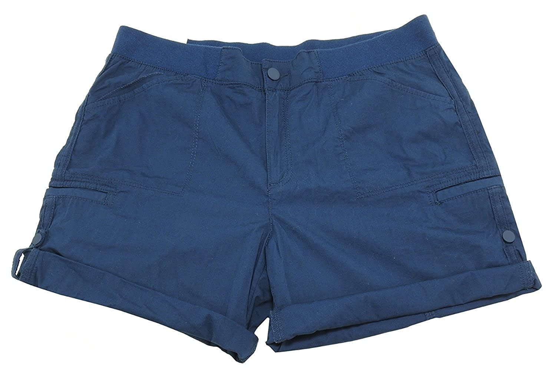 Khakis & Company Womens Size 18 Classic Roll Tab Short, Ink