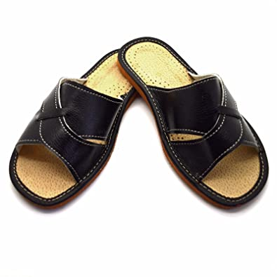 8a6f28a57814e Womens Ladies Eco Leather Slippers Slip On Shoes Mules Sandals