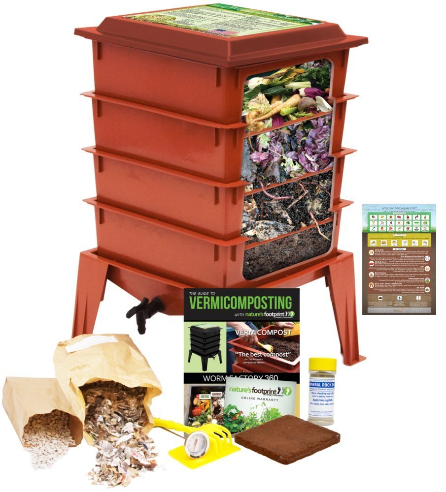 lombrices 360 Worm Compost Bin + Bonus