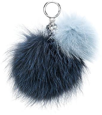 33db99c215fed MICHAEL Michael Kors Sister Pom Pom Fur Key Chain (Navy Blue