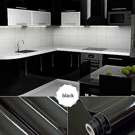 Top mueble de cocina de calidad engomada del PVC auto rollos de ...