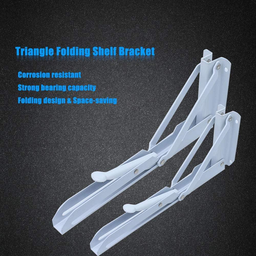 2 Unids Mesa Triangular Soporte de Estante Plegable Soporte de Montaje en Pared Soporte de Estante Plegable Plegable