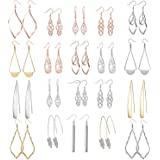10/20/26 Pairs Wholesale Earrings Dangling for women Fashion - Teens Girls Womens Dangle Earrings Set with Silver and…