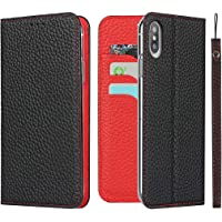 Cavor for iPhone XR Case,[Litchi Leather] [RFID Blocking Card Holder] Flip Magnetic Wallet Case Cover with Kickstand…