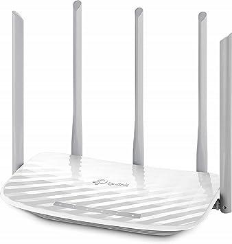 TP-Link Archer C60 - Router Inalámbrico AC1350, Banda Dual 5GHz/2GHz, MU-MIMO 2x2, 5 Antenas Externas, Puerto LAN 4x10/100Mbps, Puerto WAN ...