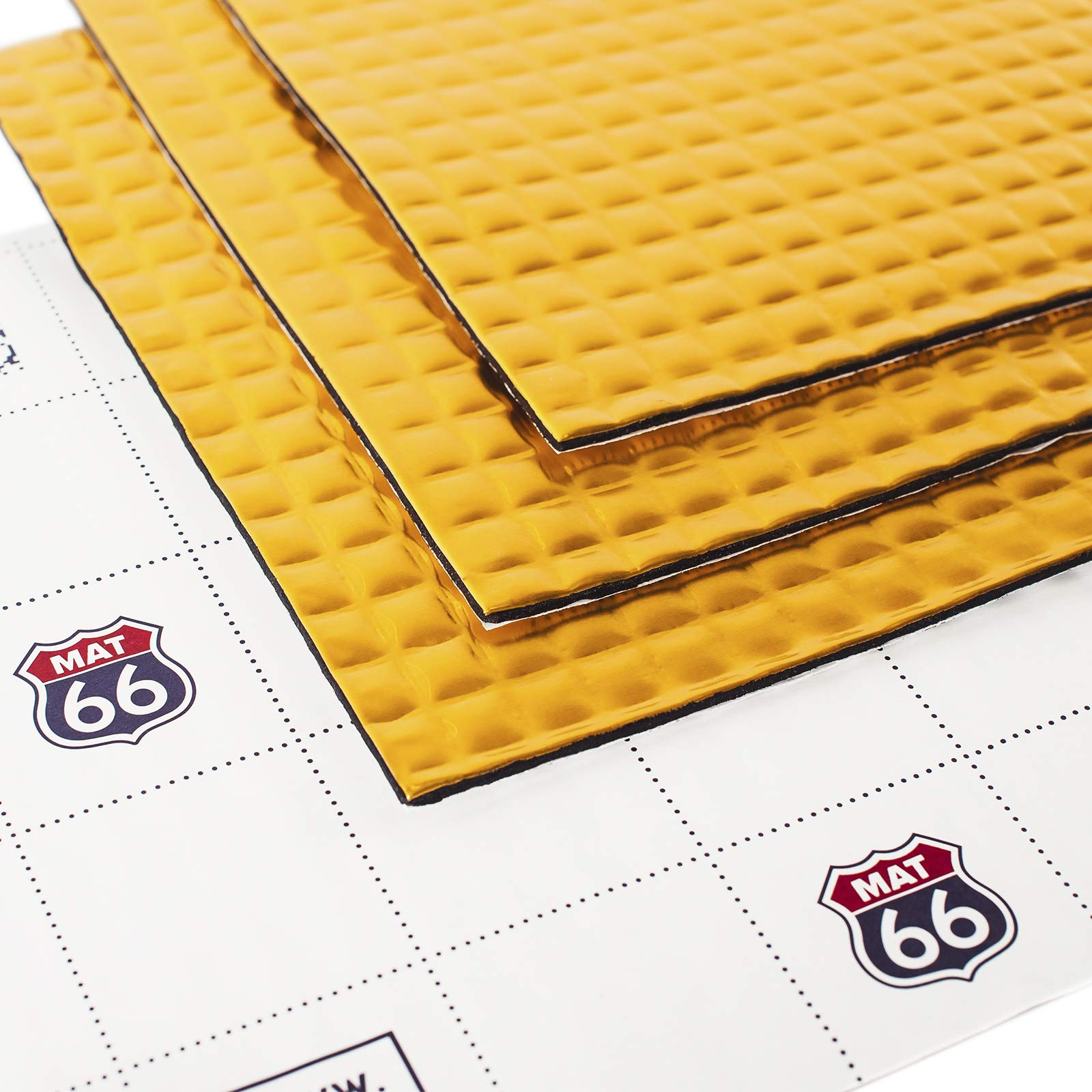 MAT 66 120 mil 23 sqft Car Sound Deadening mat, Butyl Automotive Sound Deadener, Audio Noise Insulation and dampening by MAT 66