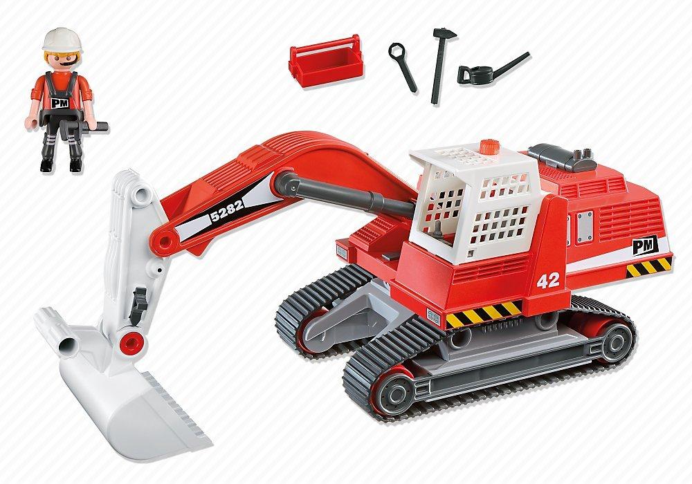 PLAYMOBIL 5282  Excavateur et Ouvrier : comparer les prix, caractéristiques,