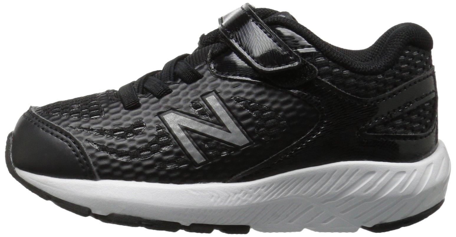 New Balance Boys' 519v1 Hook and Loop Running Shoe Black/White 2 M US Infant by New Balance (Image #5)