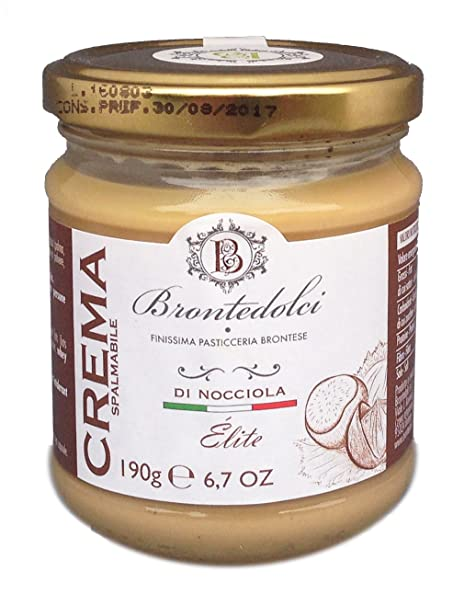 Brontedolci - Crema de Avellana dulce con 40% de Avellanas - 190g: Amazon.es: Alimentación y bebidas