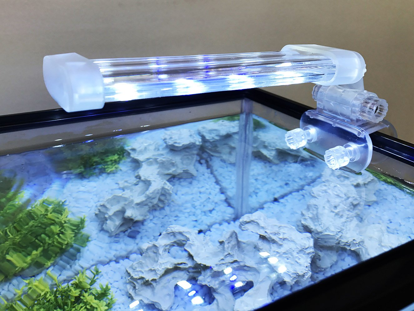 BPS® Lámpara de Acuario LED Iluminación Luces para Plantas Sumergible Luz Blanco y Azul 2 Modelos para Elegir 4W/8W (4W: 150 x 40 mm) BPS-6871: Amazon.es: ...