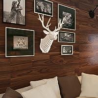 Hroome DIY 3D kit puzzle di legno tagliati Elk Antlers Faux testa di cervo a muro scultura moderna animale testa in legno da appendere alla parete