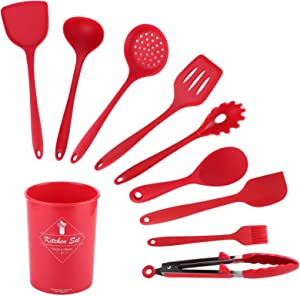 Voluxe Silicone Spatula, Leak Proof Cooking Spatula, Odor Resistant Light Keep Secure for Kitchen Home