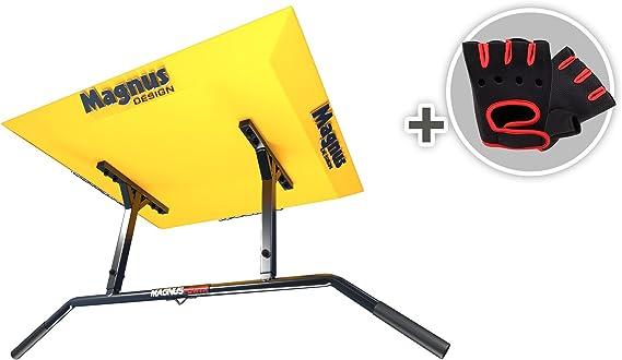 Magnus Power mp1021 – Original – Barra de dominadas (Montaje en Techo) 2 Grips + Guantes + Gancho para Entrenamiento en suspensión/Saco de Boxeo