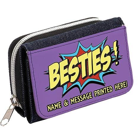 Personalizado Best Friends Besties st378 Mujer Denim Bolso Niñas Cartera de regalo * * Añade un