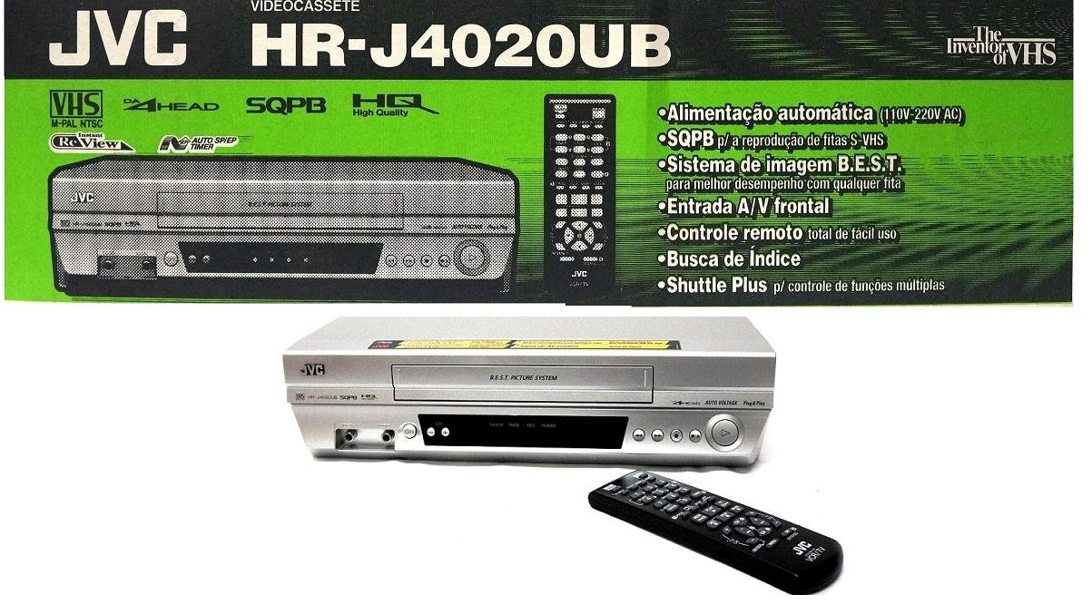 THE NEW JVC HR-J4020UB VHS 4 HEAD VCR player M-PAL NTS hrj4020ub S-VHS Silver by JVC