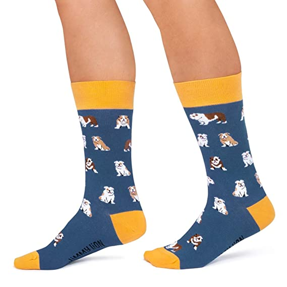 Jimmy Lion Calcetines Bulldogs Azul Talla 41-46: Amazon.es: Ropa y accesorios