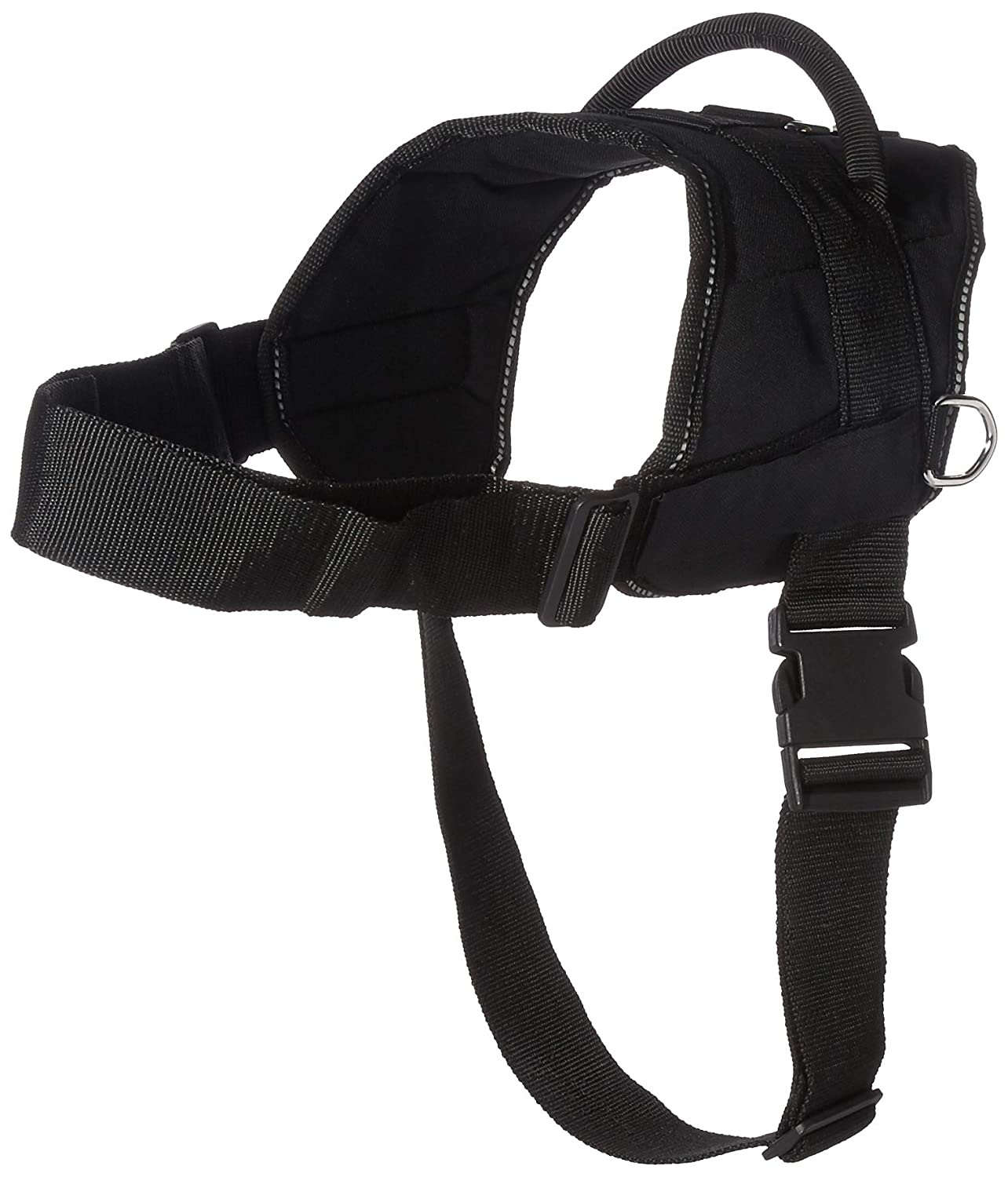Dean & Tyler Fun Works Harness, Emotional Support Animal, X-Large-Fits Girth Size  34-Inch to 47-Inch, Black with Reflective Trim