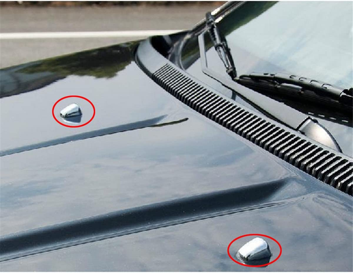 Car Washer Jet Body Trim Windscreen 2-in-1 Windshield Wiper Nozzle Adjustment with Silver