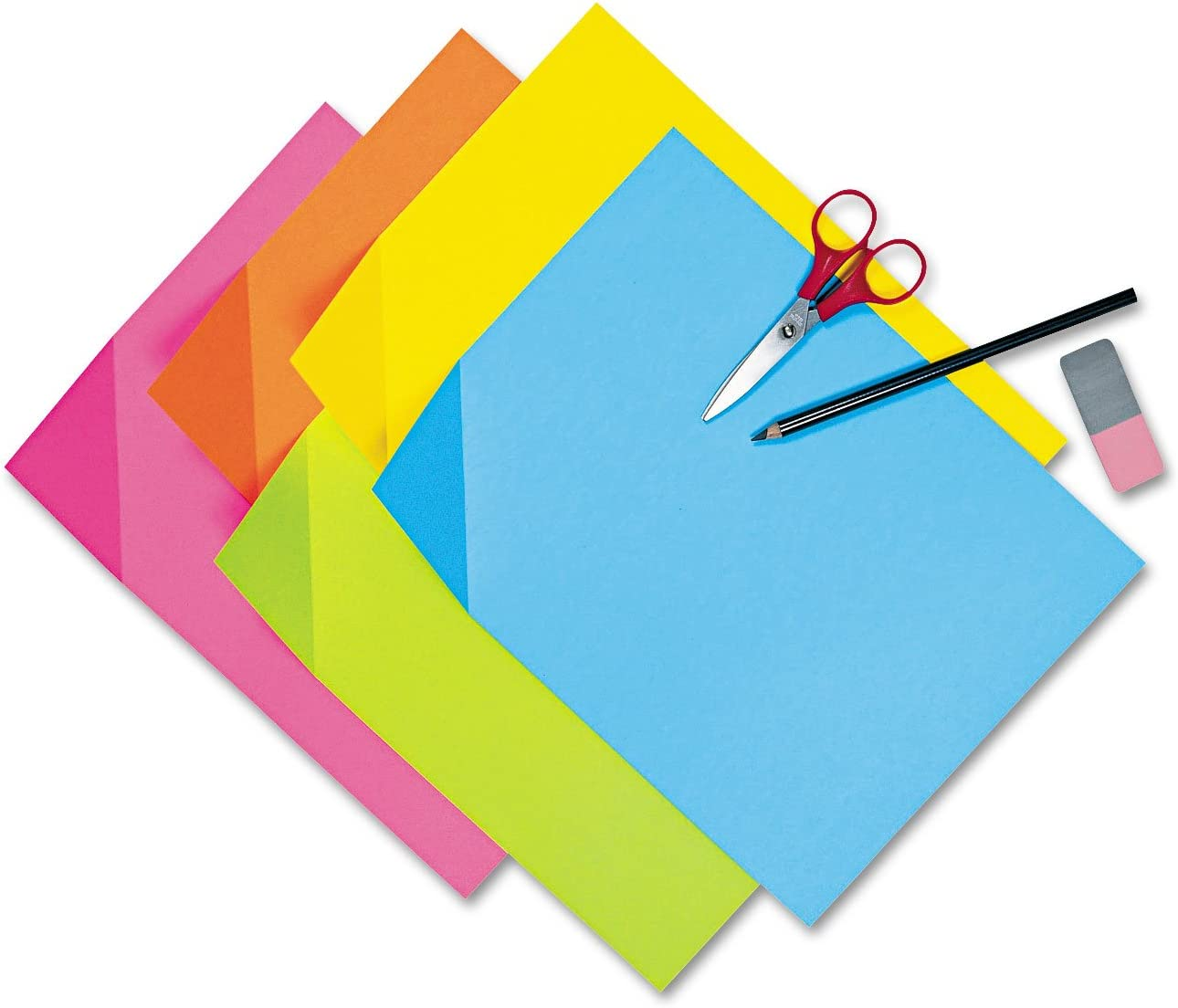 Assorted Colors 100 Sheets//Pack Pacon 1712 Colorwave Super Bright Tagboard 12 x 18